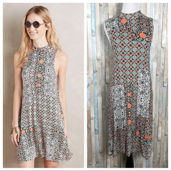 Anthropologie Dresses L Maeve Jersey Knit Lilt Swing Dress Poshmark